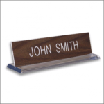 Plexiglass Base Name Plate Desk Name Plates
