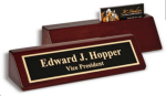 Piano Finish Wedge Desk Plate Desk Name Plates