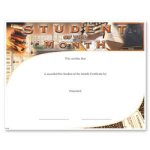 Student Of The Month Certificate Award Fill in the Blank Certificates