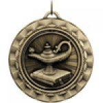 Spinner Medals -Lamp of Knowledge  Scholastic Trophy Awards